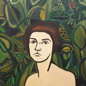 Автопортрет на фоне цветов | Selfportrait on the flowers background