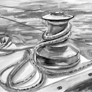 Иллюстрация в газету «Детали яхты»