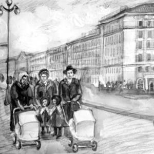 Иллюстрация в газету «Улица Ленина»