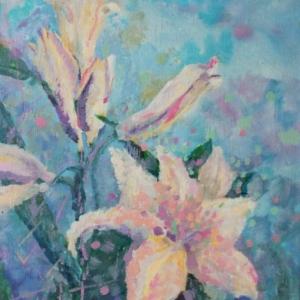 Лилии. Первая работа | Lilies. The first painting